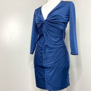 NWT Guess Bodycon Mini Dress Ruched Plunge V-Neck